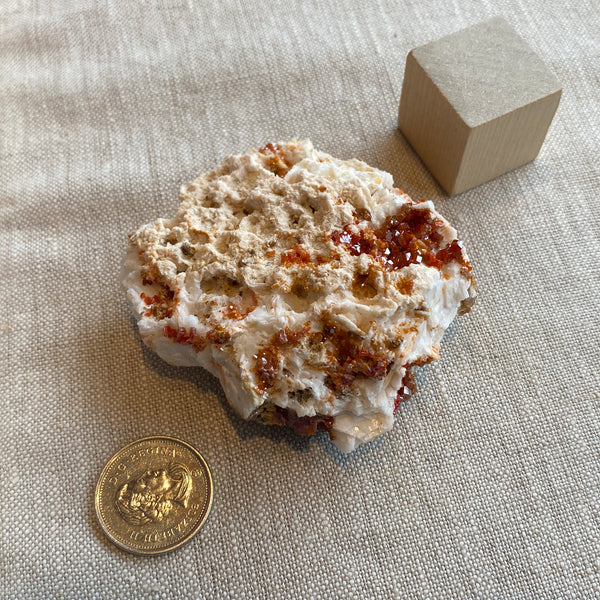 Vanadanite Cluster on Matrix with Barite, F