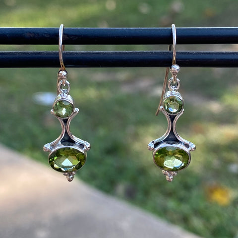 Peridot hook earrings