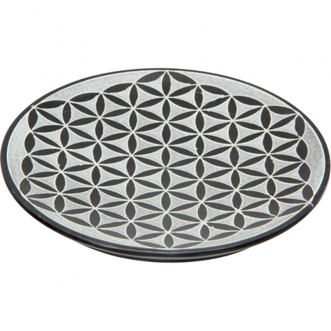 Soapstone Incense Holder - Flower of Life