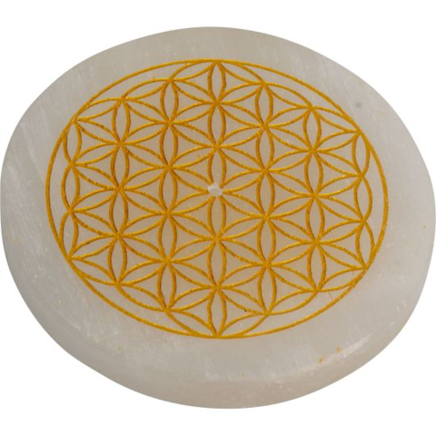 Selenite Incense Holder - Flower of Life