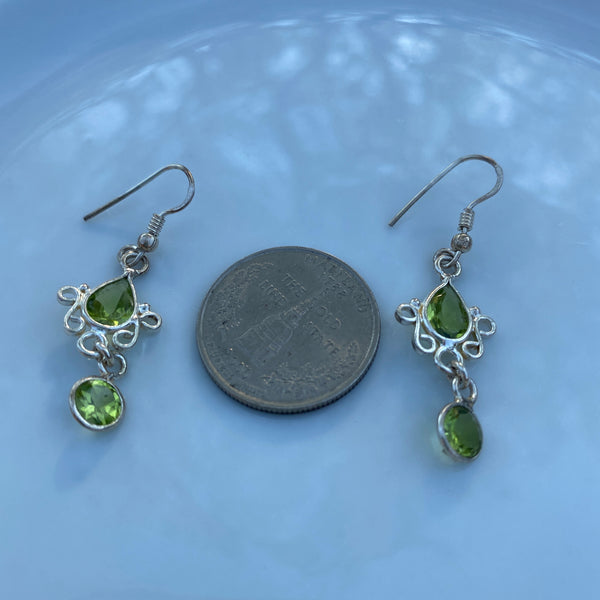 Peridot hook earring