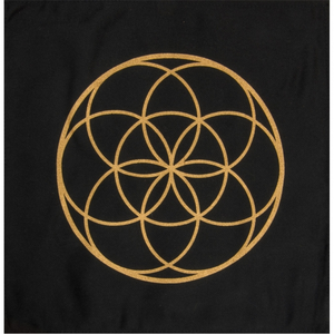 Printed Cotton Crystal Grid - Seed of Life