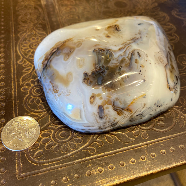 Picasso Agate Freeform, single face polished