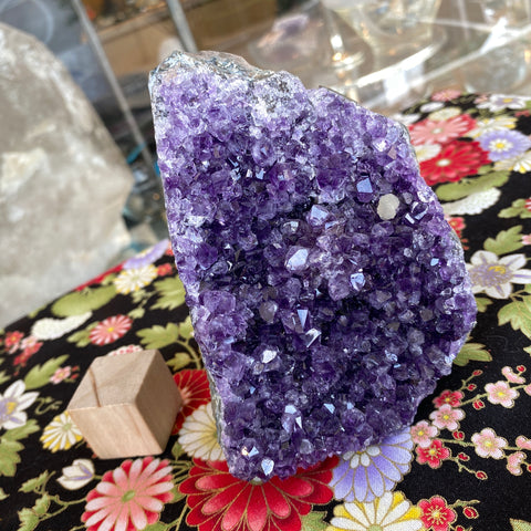 Uruguay Flat Base Amethyst with Calcite