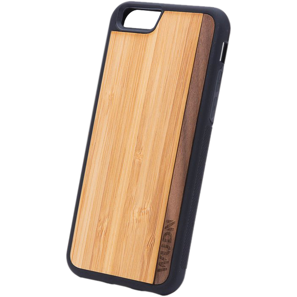 Slim Wooden Phone Case | Bamboo / Walnut Stripe