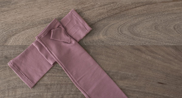 long mauve bamboo fingerless gloves:  www.aylagloves.com