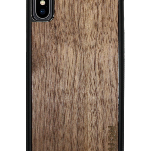 Slim Wooden iPhone Case Black