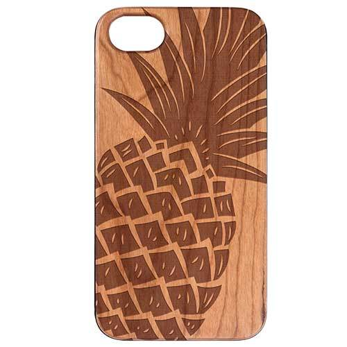 Wood crafted Phone case with Pineapple design