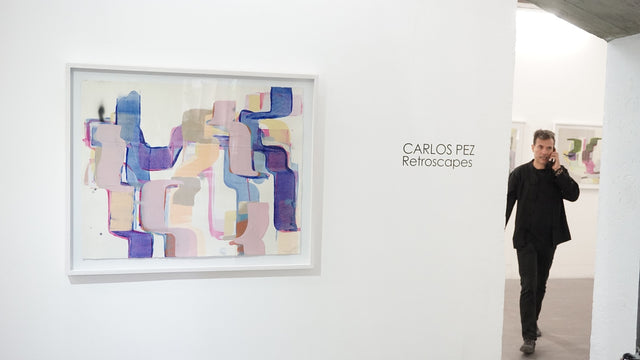 Carlos Pez shows his series of abstract paintings at YAM Gallery: Retroscapes is the title of his exhibition.