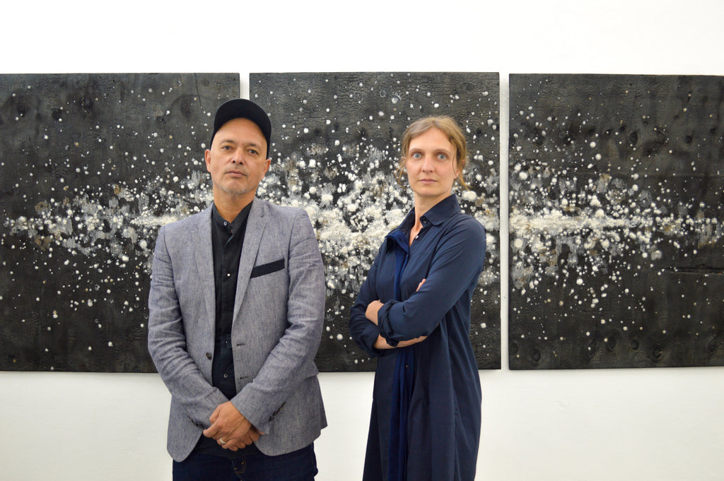 Marie Moebius and Adolfo Caballero, owners of YAM Gallery in Sa Miguel de Allende