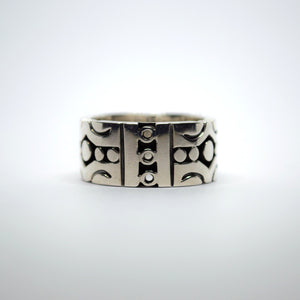 Pre-Columbian pattern ring by William Spratling