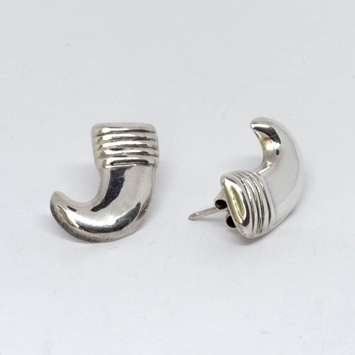 William Spratling earrings. Mexican silver. Taxco silver. Mexican jewelry. Sterling silver.