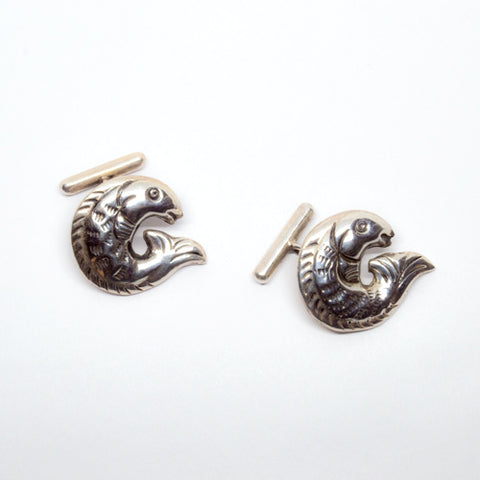 Cufflinks by William Spratling. Mexican Jewelry. Taxco silver. Mexican silver.