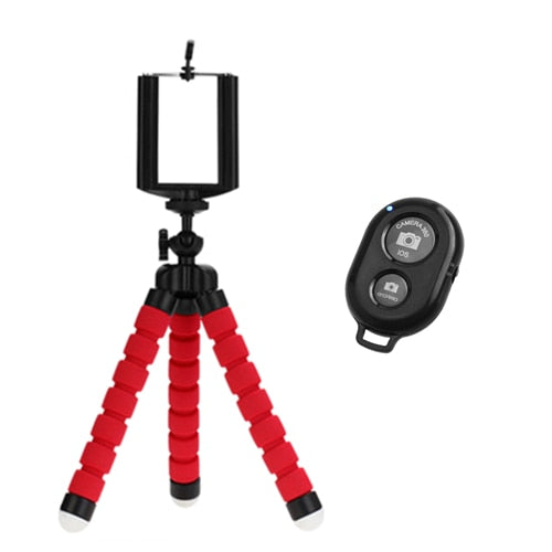 Mini phone tripod with Bluetooth remote control