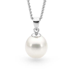 9ct White Gold White 7.5-8mm Freshwater Pearl Pendant