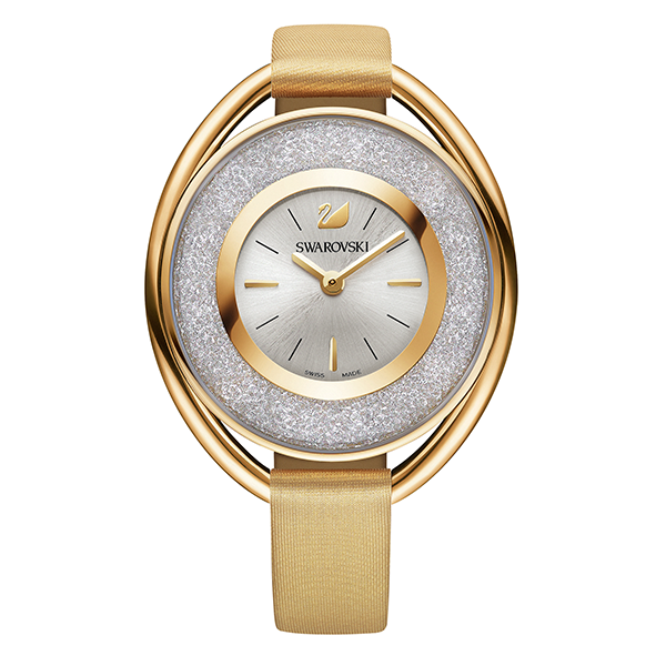 Swarovski Crystalline Oval Gold Tone Watch