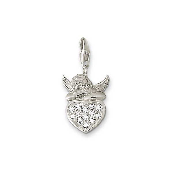 THOMAS SABO Charm Club Putto On CZ Heart