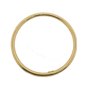 9ct 4.5mm 65mm hollow golf bangle