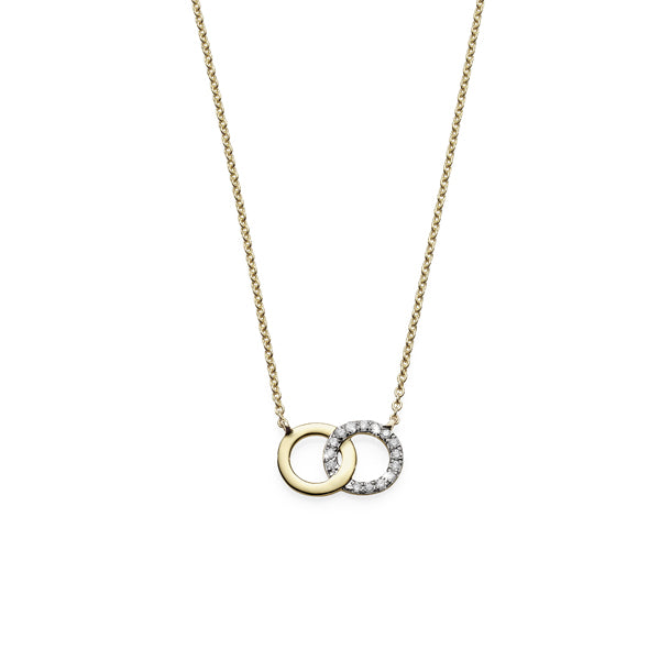 9ct Yellow Gold 45cm diamond necklet