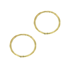 9ct gold large facet sleeper