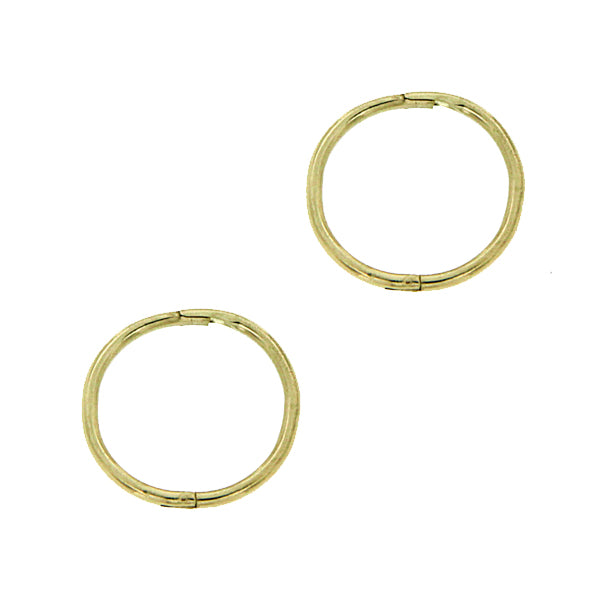 9ct gold small plain sleeper
