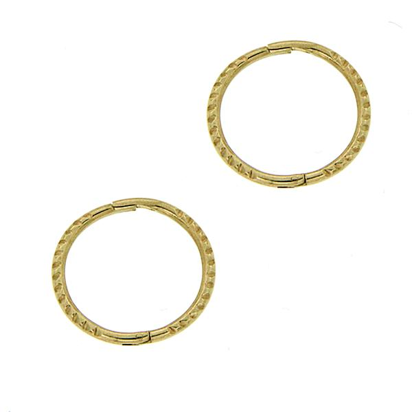 9ct gold small twist sleeper