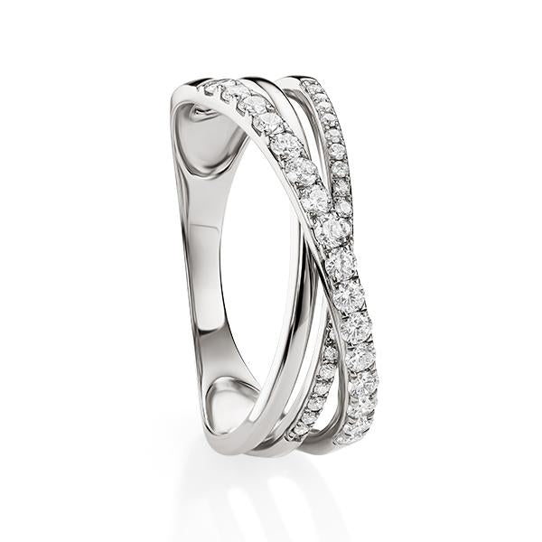 9ct white gold 0.40c diamond ring