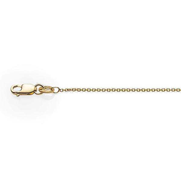 9ct yellow gold 45cm cable chain