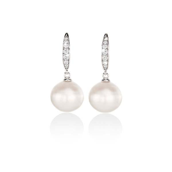 Arafura Silver South Sea Cultured Pearl Earrings