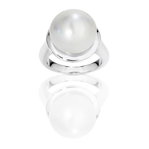 Arafura Silver South Sea Cultured Pearl Ring