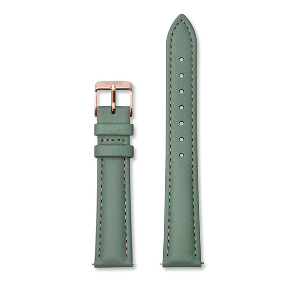 CLUSE 16mm Strap Stone Green/Rose Gold
