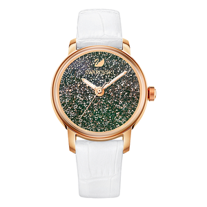 Crystalline Hours Watch, White with Rose
