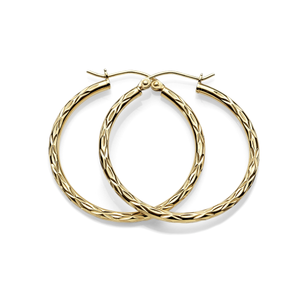 Gold-Bonded Silver Hoops
