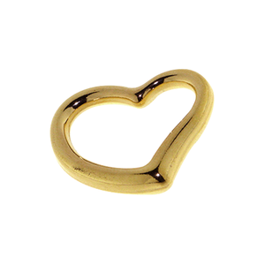 Gold-Bonded Silver Open Heart Pendant