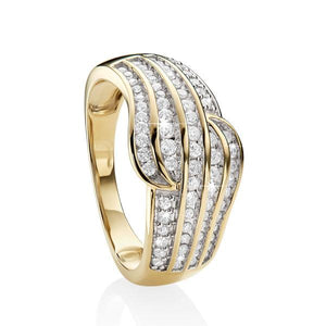 MP5544 9ct YG 0.50ct TDW Diamond Ring