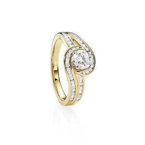 MP5555 9ct YWG TDW 1ct Diamond Ring