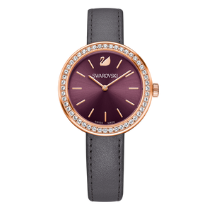 SWAROVSKI DAYTIME WATCH, BURGUNDY