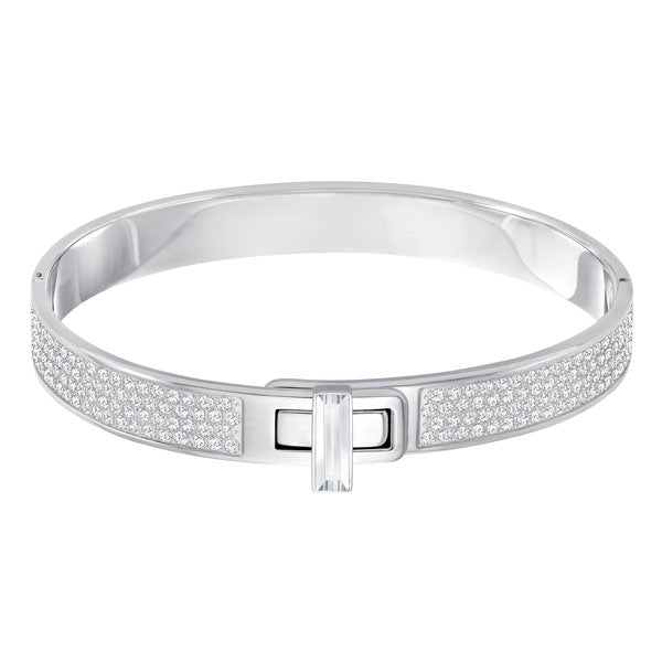 SWAROVSKI GAVE BANGLE, STAINLESS STEEL, SMALL