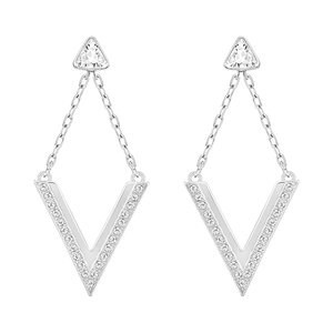 Swarovski Delta Pierced Earrings