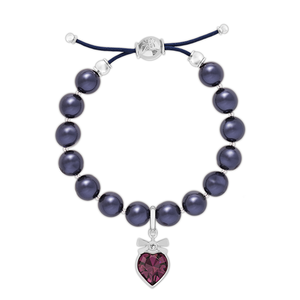 Swarovski Purple Pearl Charm Set