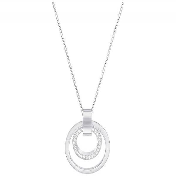 Swarovski Rhodium Hollow Necklace