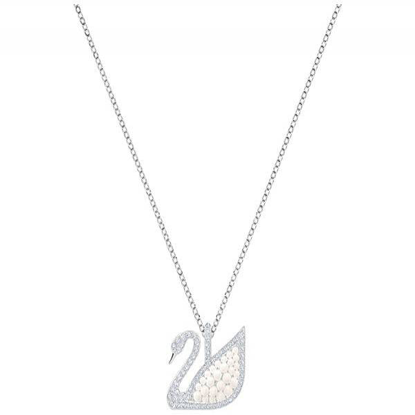 Swarovski Rhodium Iconic Swan Necklace