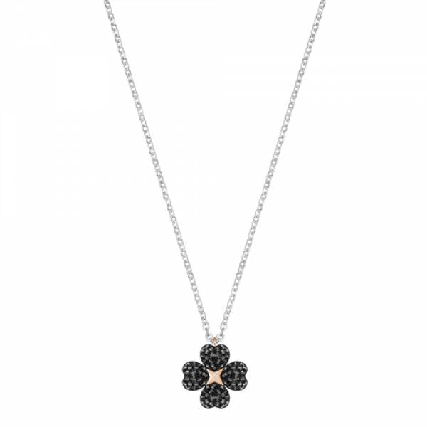 Swarovski Rhodium Latisha Flower Necklace