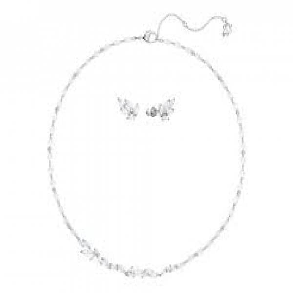 Swarovski Rhodium Louison Necklace & Earring Set