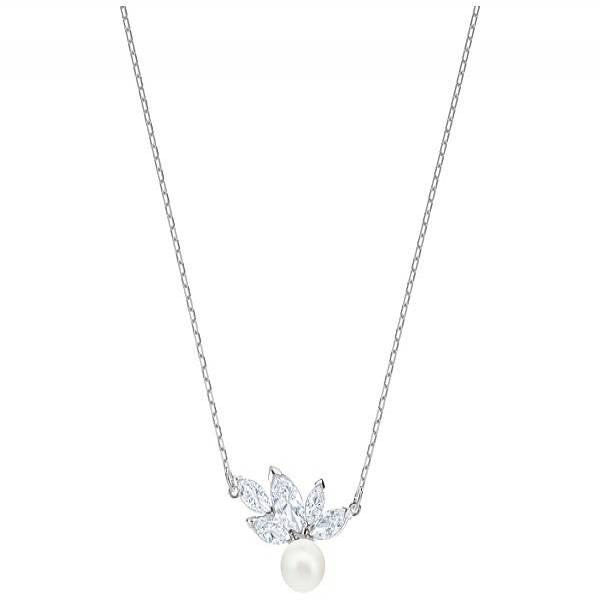 Swarovski Rhodium Louison Pearl Necklace