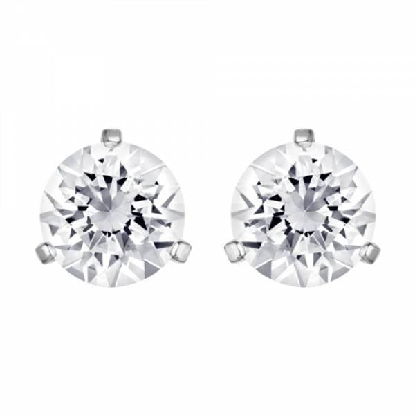 Swarovski Rhodium Solitaire Earrings