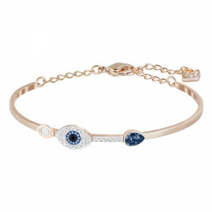 Swarovski Rose Gold Duo Evil Eye Bangle