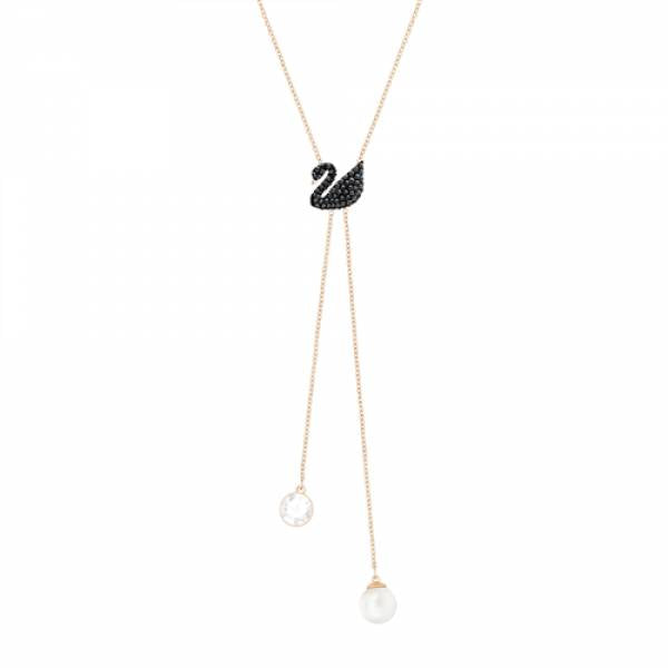 Swarovski Rose Iconic Swan Necklace