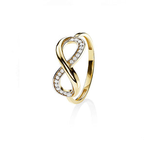9Ct Gold Cubic Zirconia Infinity Ring