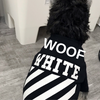 Woof-White Dog T-shirt